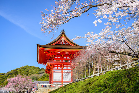 buddhist temple: Kyoto, Japan at Kiyomizu-dera Temple in the spring.