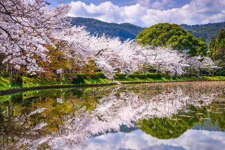 kyoto: Kyoto, Japan during spring in the Arashiyama District. Stock Photo