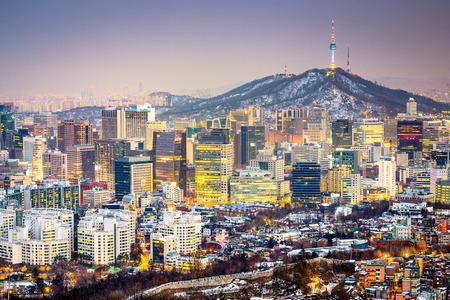Seoul, Corea del Sud skyline della città. Archivio Fotografico - 36658017
