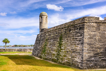 fl: St. Augustine, Florida at the Castillo de San Marcos National Monument. Stock Photo