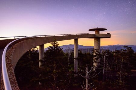 smoky: Clingmans Dome in the Great Smoky Mountains of Tennessee.
