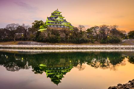 Okayama, Japan at Okayama Castle on the Asahi River.