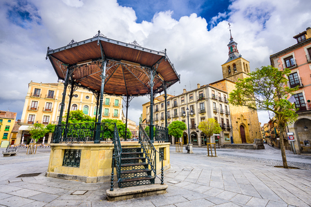 mayor: Segovia, Spain gazebo in Plaza Mayor.
