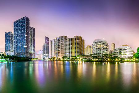 Miami, Florida city skyline.