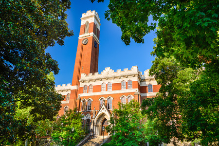 school campus: Campus of Vanderbilt Unversity in Nashville, Tennessee. Stock Photo