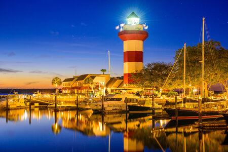 sc: Hilton Head, South Carolina, USA lighthouse.