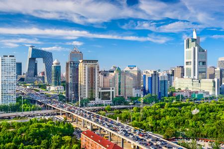 Pechino, Cina paesaggio urbano al CBD. Archivio Fotografico - 37690114
