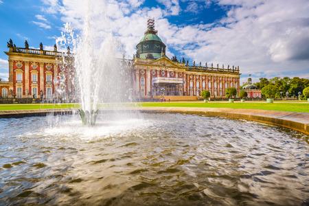 royal park: The New Palace Neues Palais in Potsdam, Germany.