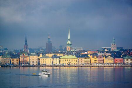 city skyline in Stockholm, Sweden 版權商用圖片