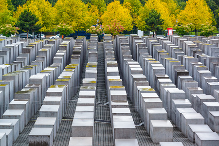 auschwitz memorial: the Holocaust monuments in Berlin, Germany