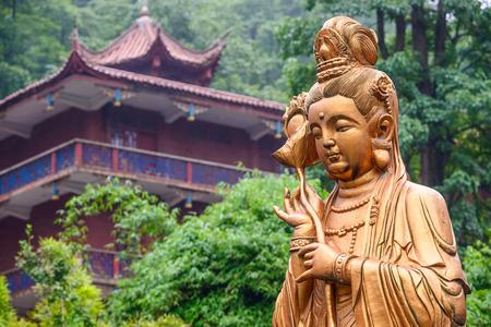 good fortune: Guiyang, China at Hongfu Temple on Qianling Hill.