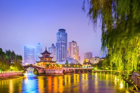 naming: skyline at Jiaxiu Pavilion on the Nanming River in Guiyang, China Stock Photo