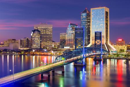 jacksonville: downtown city skyline in Jacksonville, Florida, USA Stock Photo