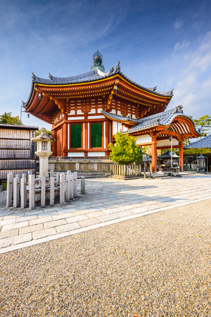ancient japanese: Kofuku-ji Pavilion in Nara, Japan Editorial