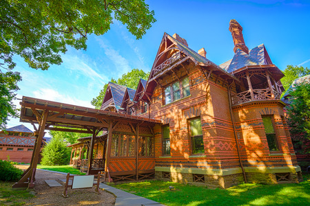 hartford: the Mark Twain historic house in Hartford, Connecticut, USA Editorial