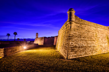 marcos: the Castillo de San Marcos National Monument in St. Augustine, Florida