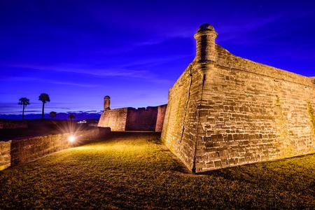 fl: the Castillo de San Marcos National Monument in St. Augustine, Florida
