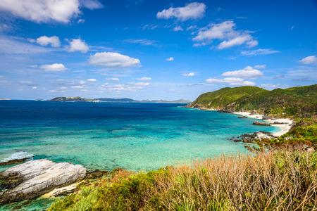 okinawa: Tokashiki, Okinawa, Japan coastal view at Aharen Beach. Stock Photo