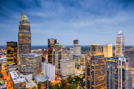 uptown: Charlotte, North Carolina, USA uptown skyline.