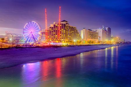 atlantic city: Daytona Beach, Florida, USA beachfront resorts skyline.