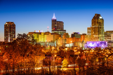Raleigh, North Carolina, USA skyline. 版權商用圖片