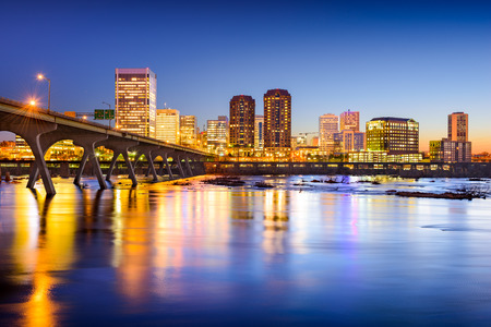 usa cityscape: Richmond, Virginia, USA downtown city skyline. Stock Photo