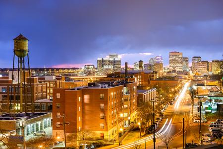 virginia: Richmond, Virginia, USA downtown cityscape over Main St.