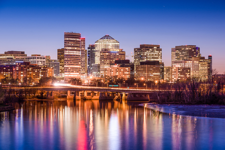 virginia: Rosslyn, Arlington, Virginia, USA skyline on the Potomac River. Stock Photo