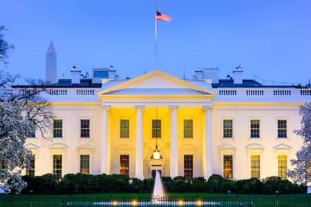 dc: Washington, D.C. at the White House. Stock Photo
