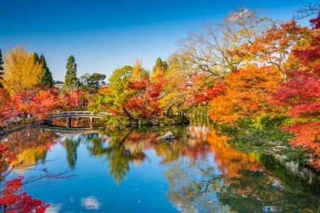 koyo: pond and garden at Eikando Shrine during the autumn season in Kyoto, Japan Stock Photo