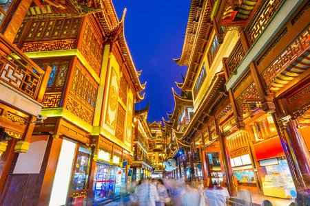 上海、中国の伝統的な豫園区 写真素材