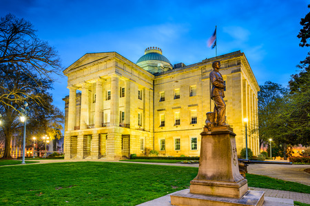 state government: State Capitol Building in Raleigh, North Carolina, USA