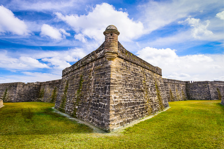 marcos: St. Augustine, Florida at the Castillo de San Marcos National Monument. Editorial