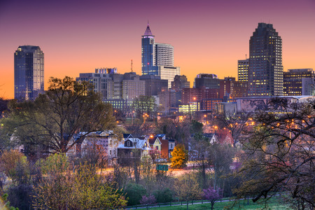 north: Raleigh North Carolina USA skyline.