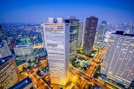 japan sunset: Tokyo Japan shinjuku cityscape.