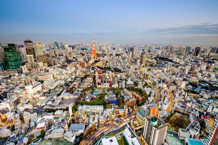 Tokyo Japan cityscape.