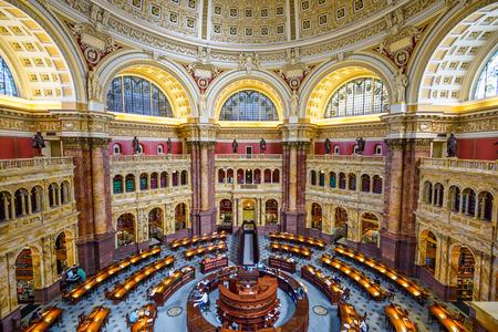 national congress: WASHINGTON, D.C. - APRIL 12, 2015: The Library of Congress in Washington. The library officially serves the U.S. Congress. Editorial