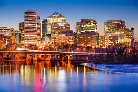 rosslyn: Rosslyn, Arlington, Virginia, USA downtown skyline on the Potamac River. Stock Photo