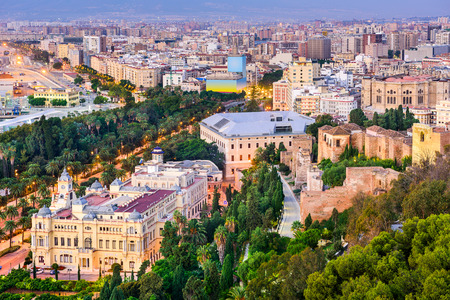 Malaga, Spain cityscape. Stock Photo