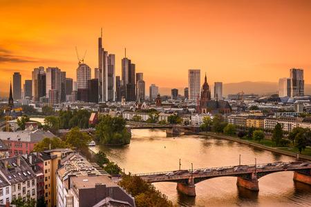 Frankurt, Germany skyline on the Main River. photo