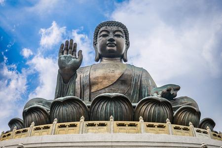 statue: Hong Kong, China at the Tian Tan Buddha. Stock Photo