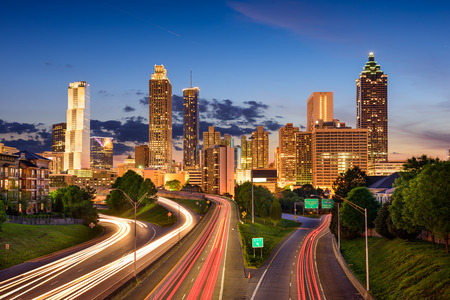 south georgia: Atlanta, Georgia, USA downtown skyline. Stock Photo