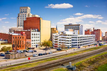 carolina: Durham, North Carolina, USA downtown cityscape.