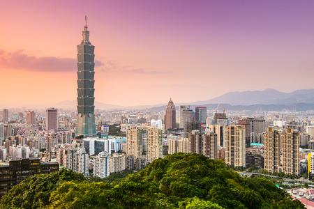 taiwan scenery: Taipei, Taiwan skyline of the Xinyi District.