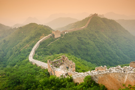 Great Wall of China. Banque d'images