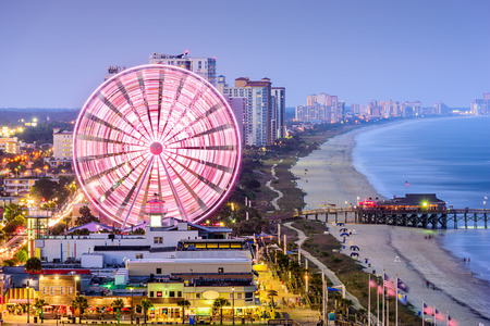 beach: city skyline in Myrtle Beach, South Carolina, USA Stock Photo