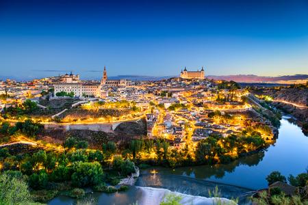 europe: old town skyline in Toledo, Spain Stock Photo