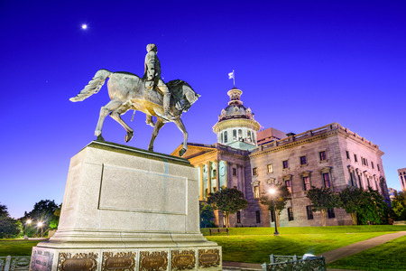 and south: the State House in Columbia, South Carolina, USA