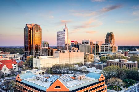 carolina: Raleigh, North Carolina, USA downtown city skyline. Stock Photo