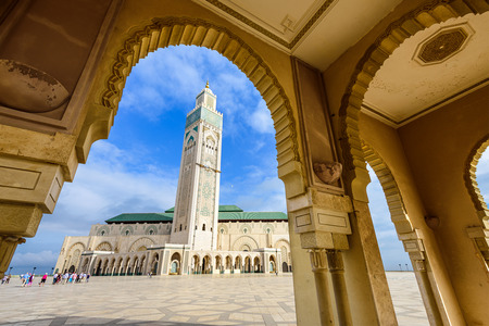 Hassan II Mosque in Casablanca, Morocco.